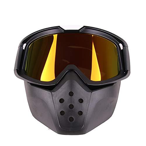 Lafeil Sportsonnenbrille Transparent Damen Herren Im Freiensportsand Retro Rennreitbrillen Motocross Brille Schwarz Frame Rot Gläser