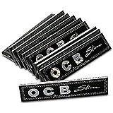 SEGGO Black OCB King Size Rolling Paper Pack Of 32 Booklet (1024) Leaves Assorted Hookah Flavor