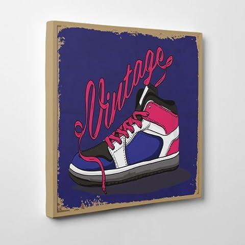 Peinture sur toile Moderne–Sneakers Vintage–Fashion Sneaker Chaussures–(Cod. 079), Épaisseur: Gallery 4cm, Size: 40x40 inch
