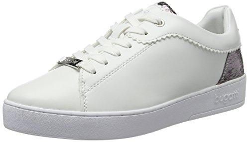 bugatti Damen J7608PR6N Sneaker, Weiß (Weiss/Silber 207), 41 EU