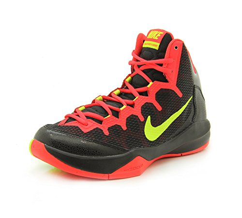 Nike Zoom Without A Doubt Herren Basketballschuhe black volt bright crimsom 001