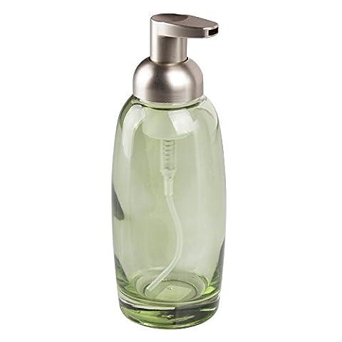 mDesign Distributeur de savon rechargeable – pompe à savon moussant