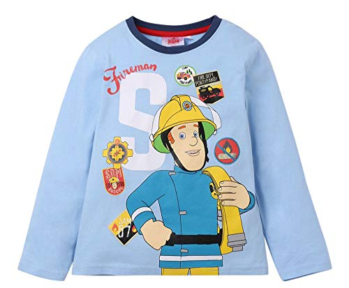 Sam el bombero Pijama (104/4 años, Azul)