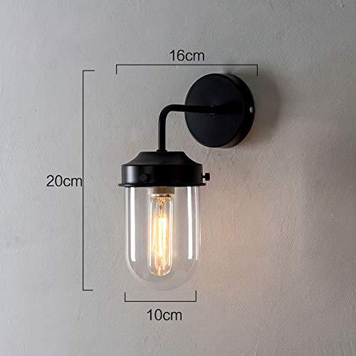 luminousky Nouveau applique murale verre abat-jour luminaire extérieur lampe noire couleur lampe de chevet