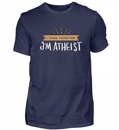 Atheist Shirt Herren Lustig Spruch I Think Therefore I'm Atheist T-Shirt Geschenk Idee Für Atheisten