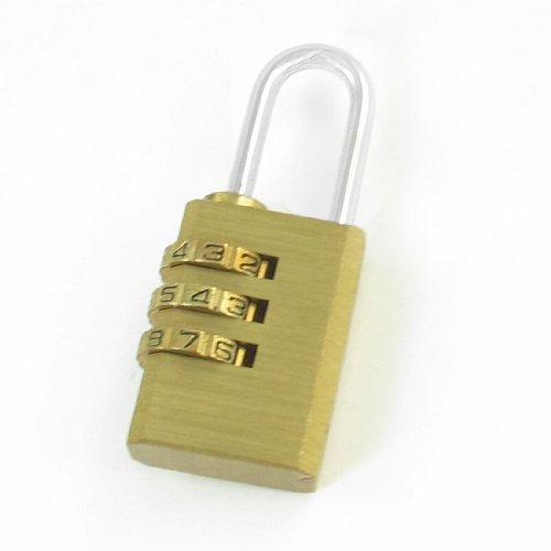 Gold ton 3Digits rücksetzbaren Kombination Zahlencodeschloß Gepäck Schublade Box Lock Vorhängeschloss Ton-tool-box
