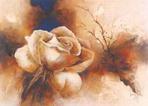 Betty Jansma – Rose I Kunstdruck (25,40 x 35,56 cm) (Betty Roses Jansma)