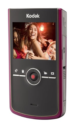 Kodak Zi8 Pocket-Camcorder (SD Karte, 6,4 cm (2,5 Zoll) Display) himbeerrot