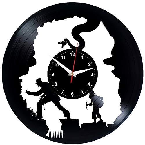 EVEVO Indiana Jones Wanduhr Vinyl Schallplatte Retro-Uhr groß Uhren Style Raum Home Dekorationen...