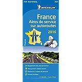Carte Aires de service sur autoroutes France 2016 Michelin