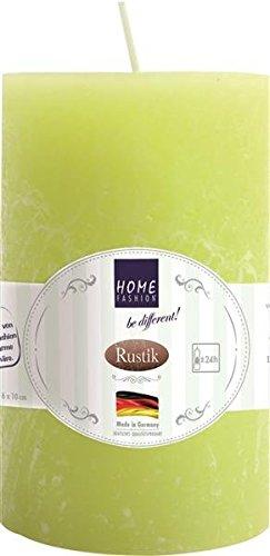 (Kerze Stumpen Rustik lime - Limette Ø 6cm, Höhe 10cm)