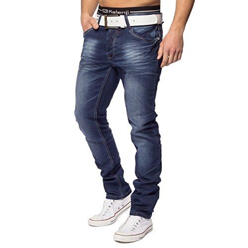 Hommes Jean 5 poches ID1416 slim bleu foncé Dunkelblau