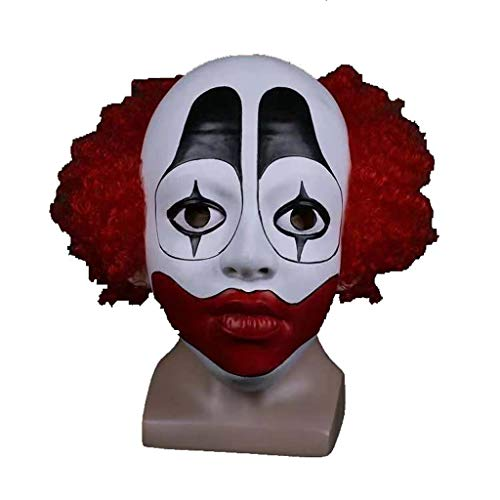 Halloween Redhead Clown Mask Maskerade Show Perücke Clown Parodie Scary Prop Tierwelt Maske