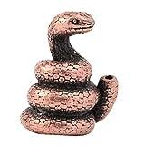 F Fityle Rame Cinese Tradizionale Dodici Zodiaco Figurine Incenso Bastone Titolare del Supporto - Serpente