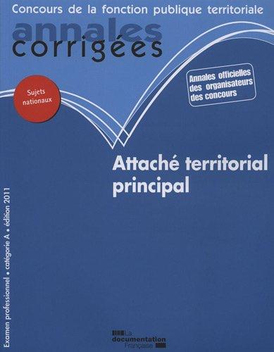 Attache principal 2011 - catégorie A ex...