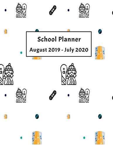 School Planner August 2019 - July 2020: Weekly, Monthly and Yearly Calendar (Snowboarding School Planner, Band 3) Avery Ski