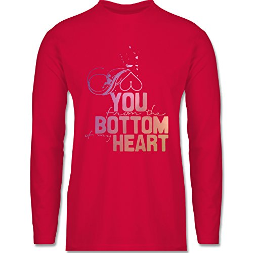 Shirtracer Statement Shirts - I Love You From The Bottom of My Heart - Herren  Langarmshirt