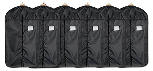 blupalu I 6x Premium Kleidersack I Kleiderhülle I Kleiderschutzhülle mit Reißverschluss I aus atmungsaktivem Material I Wasserabweisend I schwarz I 60 x 100 cm