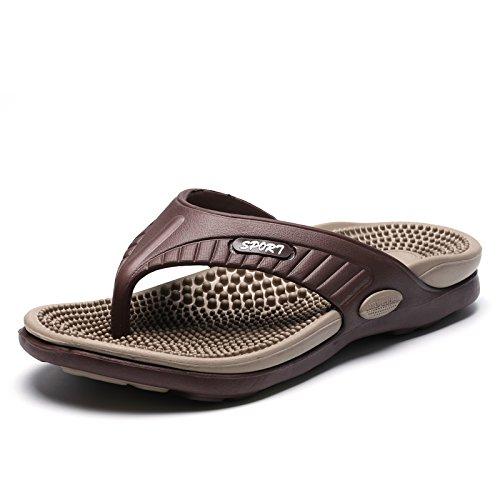 Les hommes, Chaussons, Tongs aux pieds, dune salle de bains, Chaussons, des orteils, les chaussures de plage Light brown brown