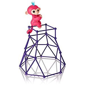 JACKY-Store Interactive Baby Monkey Climbing Stand for Monkey Jungle Gym Playset