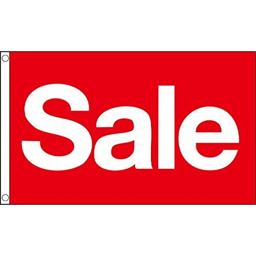 SHOP SALE FLAG - SALE NOW ON FLAG - JANUARY SALE / SUMMER SALE Etc FLAG FOR SHOPS, GARDEN CENTRES, CAR DEALERS, DIY STORES, CAR BOOT SALES, Etc.