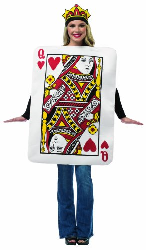 Costume Playing Card Queen (Queen of Hearts Card Adult Costumne One Size Fits)