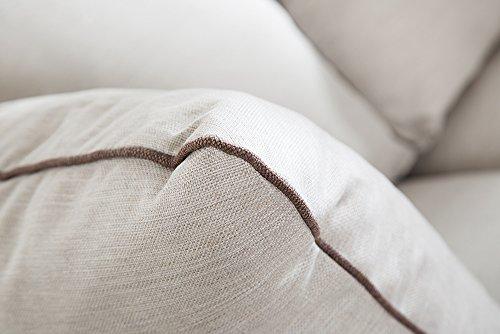 Elegantes Hussen 2er Sofa RIVIERA 210cm beige inkl. Kissen Couch Zweisitzer - 5