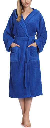 Ladeheid Albornoz para Mujer 100% Algodón LA40-102(Azul (D14), S)