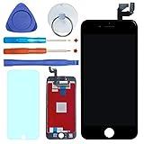 FDAWN Ersatz Display LCD, Konverter Digital Touch Screen, Kit von Strument Komplette für iPhone 6S 4,7Zoll, Inklusive Schutz gehärtete Schwarz