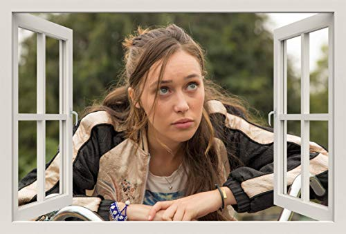 Unified Distribution Fear The Walking Dead - Alicia Clark - Alycia Debnam - Wandtattoo mit 3D Effekt, Aufkleber für Wände und Türen Größe: 92x61 cm, Stil: Fenster Clarks Folien