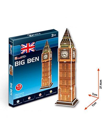 L'édifice Big Benen trois dimensions du modèle Manuel papier Assemblée