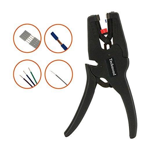 Teckmond Pinza spelafili automatico 2 in 1 e spelatura taglio per cavi con diametro di 5-20mm/(0.25-0.75inch)