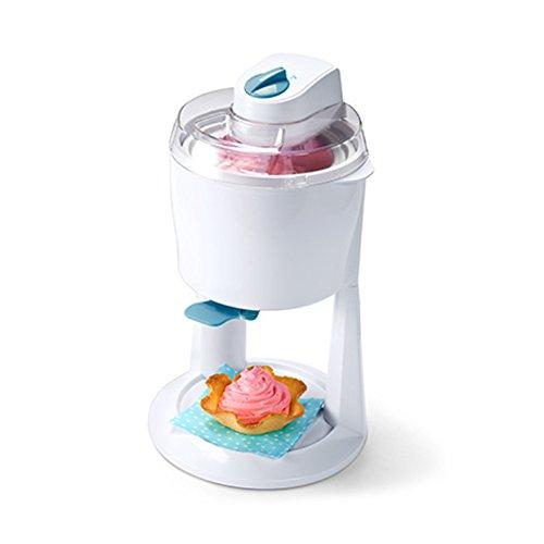 Tchibo Eismaschine zum Herstellen von selbstgemachtem Speiseeis, Sorbet und Softeis, 600 ml, weiß/blau