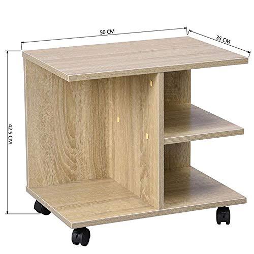 Tavolino Porta Tv Con Ruote.Vetrineinrete Tavolino Basso Multifunzione A 3 Scomparti Porta Tv