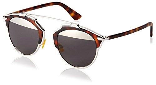 Dior Damen DIORSOREAL MD AOO Sonnenbrille, Braun (Palladium Havana/Grey Mesh), 48
