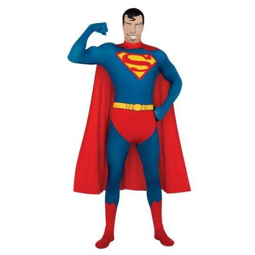 Hautenges Superman-Kostüm für Erwachsene - (Beste Comics In Kostüme Batman)