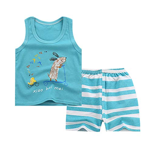 DWQuee Baby Boys Clothing Set, Sleeveless Tank Tops Shorts Tracksuit for 0-4 Years