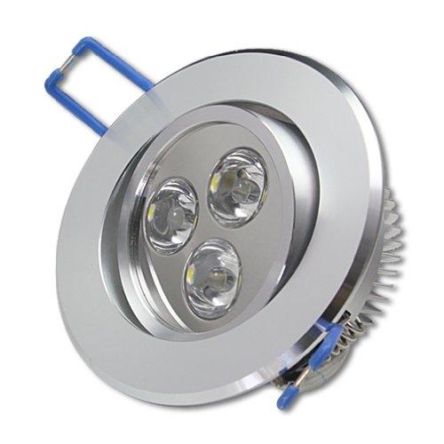 12x 3W LED Spot Einbauleuchte Warmweiß Einbau Strahler Set Decken Leuchte Lampe by Goodia--Das Paket ist aus Deutschland geliefert Led-paket
