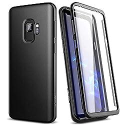 SURITCH Kompatibel mit Samsung Galaxy S9 Hülle 360 Grad Hüllen mit Integriertem Displayschutz Silikon Komplettschutz Handyhülle Schutzhülle für Samsung Galaxy S9 Schwarz