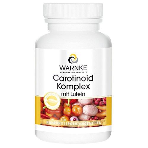 Carotenoide Complex – con luteína, zeaxantina, betacaroteno y licopeno – productos para la salud Warnke – 100 cápsulas – 62g