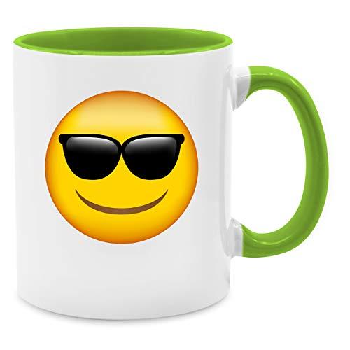 oji Sonnenbrille - Unisize - Hellgrün - Q9061 - Kaffee-Tasse inkl. Geschenk-Verpackung ()