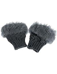 Fellimitat Fingerlose Handschuhe Fellhandschuhe Damenhandschuhe Winterhandschuhe