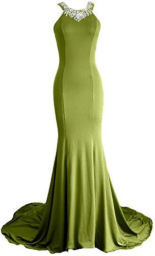 MACloth - Robe - Moulante - Sans Manche - Femme Vert olive