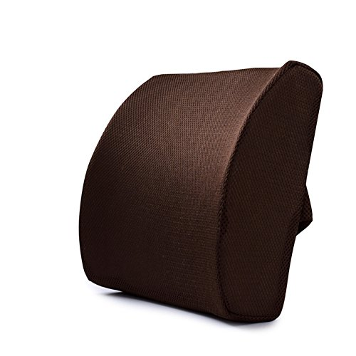 Memory-Schaum für Rückenschmerzen und, Morbuy Rückenkissen Lendenkissen (braun)