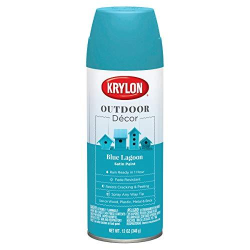 Krylon Outdoor Decor Spray Paint 12oz-Blue Lagoon -