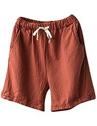 Kasen Donna Shorts Corto Coulisse Pantaloni Dritti Cintura Elastica  Pantaloncini de9cc43707d