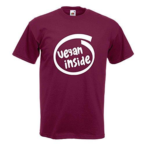 KIWISTAR - vegan inside T-Shirt in 15 verschiedenen Farben - Herren Funshirt bedruckt Design Sprüche Spruch Motive Oberteil Baumwolle Print Größe S M L XL XXL Burgund