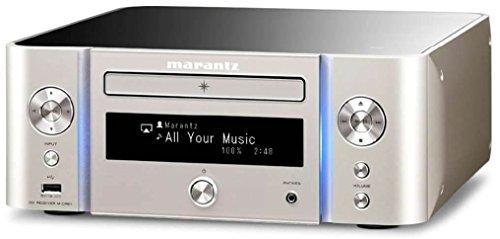 Marantz M-CR611 60W 2.0canales Estéreo Oro, Plata - Receptor AV (60 W, 2.0 Canales, Estéreo, 0,1%, 90 dB, 20-20000 Hz)