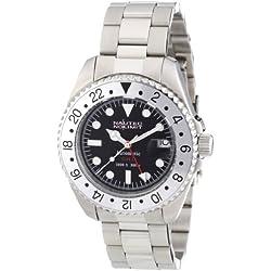 Nautec No Limit Men's Deep Sea Watch DS AT-GMT/STSTSLBK