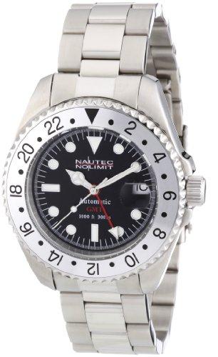 Nautec No Limit Herren-Armbanduhr Deep Sea DS AT-GMT/STSTSLBK